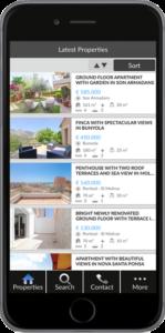 Real Estate app för Mallorca, Android och iOS